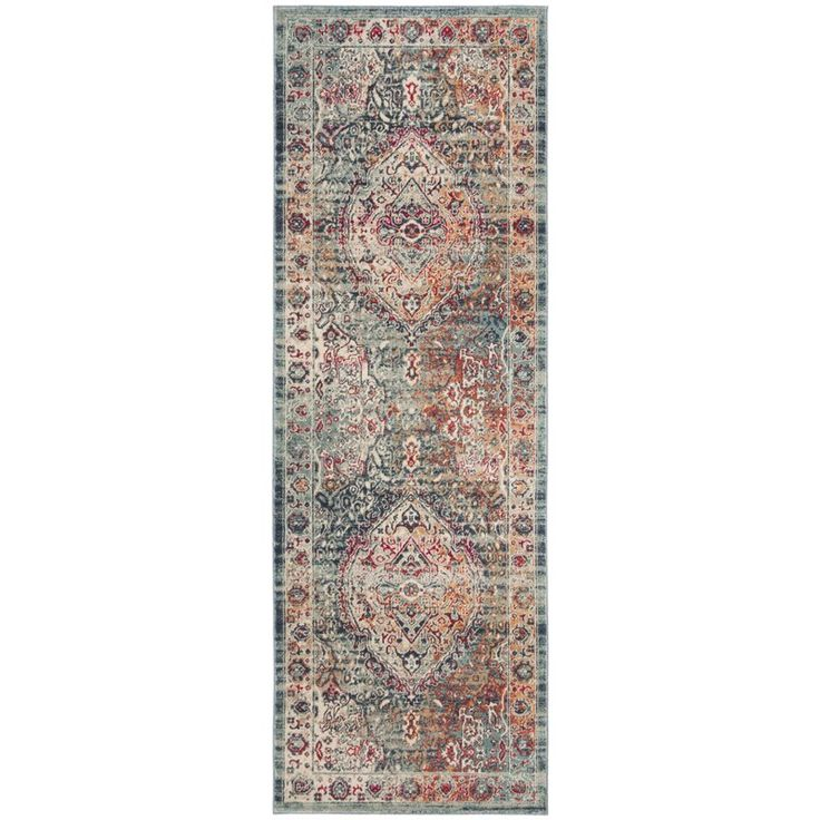 Bungalow Rose Doucet Cotton Navy Aqua Area Rug Wayfair In 2020 Rug Runner Classic Rugs Family Room Rug