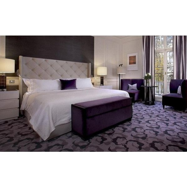 Gorgeous Modern Purple Master Bedroom Decoration Ideas Picture Modern... ❤ liked on Polyvore