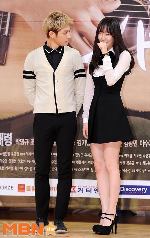 [NEWS PIC] 140915 My Lovely Girl Presscon - Myungsoo and Krystal #3 (cr:MBN) pic.twitter.com/DDCBMRji1C