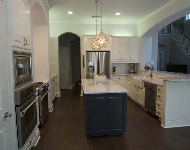 Love The Lights On This Kitchen Remodel From Austin Interior Design Firm Jameson Interiors