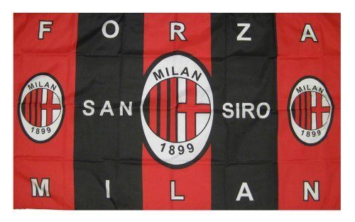 AC MILAN FLAG 3 ft. x 5 ft. by SSU. $24.99. Brand new in packaging. Easy to hanging.. 100% polyester.. 35x61 inches 88.9 x 154.9 centimeters 3 x 5 feet