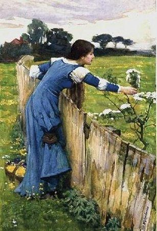 J.W. Waterhouse       Spring    Date: circa 1900  Medium: Watercolour  Size: 9 x 6 in  http://www.johnwilliamwaterhouse.com/pictures/spring-1900/?r=%2fpictures%2fsearch%2f%3fp%3d3%26pz%3d10%26d%3d190
