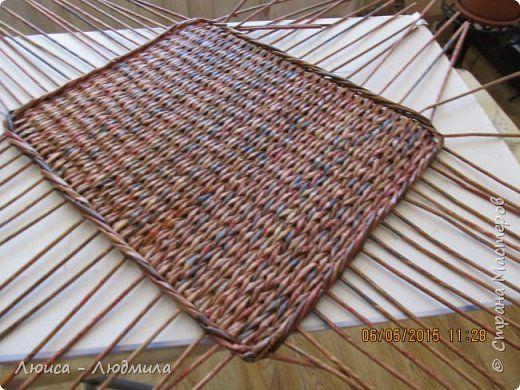szögletes alap Поделка изделие Плетение Ленивое плетеное дно - для нас новичков Бумага газетная фото 1