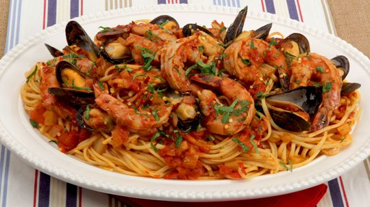Bbc Good Food Prawn And Courgette Linguine