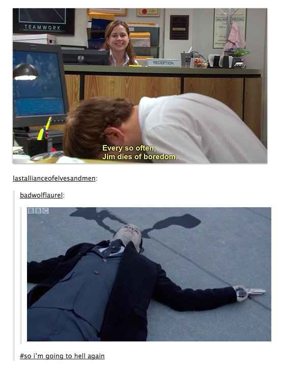 Well now...that escalated quickly. Sherlock meets The Office