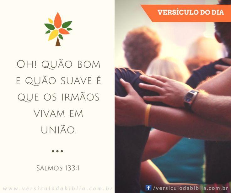 Versículo do Dia  Salmos 133:1 -  Oh! quão bom e quão suave é que os irmãos vivam em união.  Salmos 133:1  The post Versículo do Dia  Salmos 133:1 appeared first on Versículo da Bíblia.