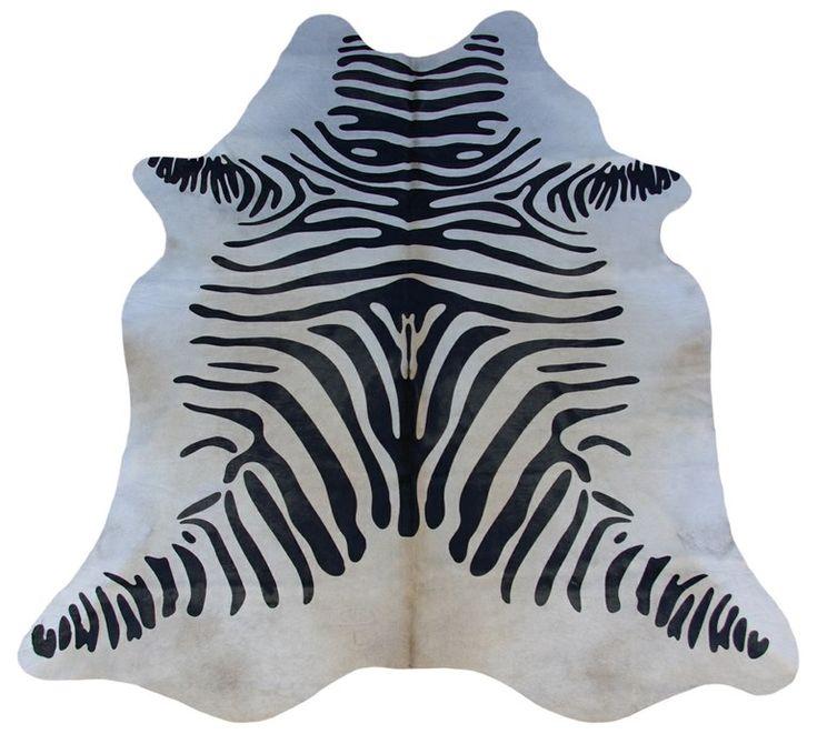 Alfombra Piel de Vaca Estampado Cebra CES-052 Dyed Cowhide