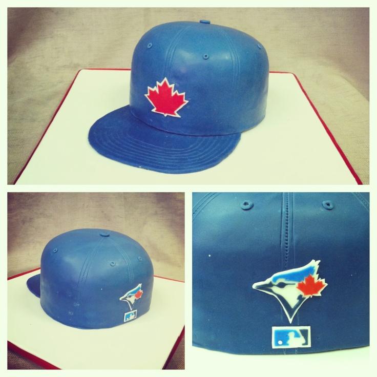 Flat bill Toronto Blue Jay's baseball hat birthday cake