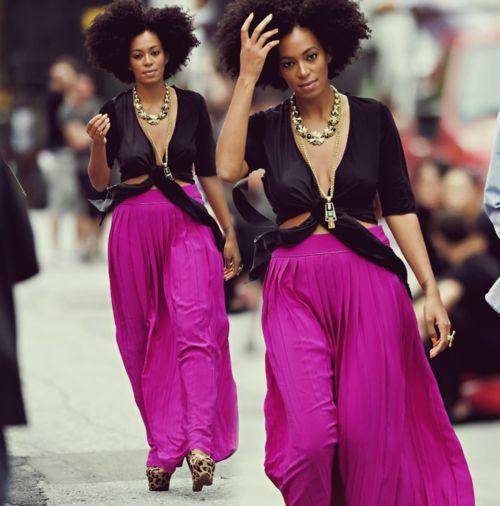 Just love Solange's style!  Black