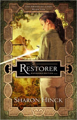 The Restorer (The Sword of Lyric #1) by Sharon Hinck. Susan Mitchell sees herself as an ordinary soccer mom, until she's pulled through a portal into another world, where a nation grappling for its soul waits for a promised Restorer to save their people.  She has always longed to do something important for God, but can she fill this role?