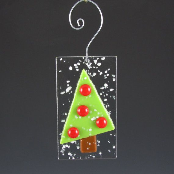 Ornament Fused Glass Christmas Tree