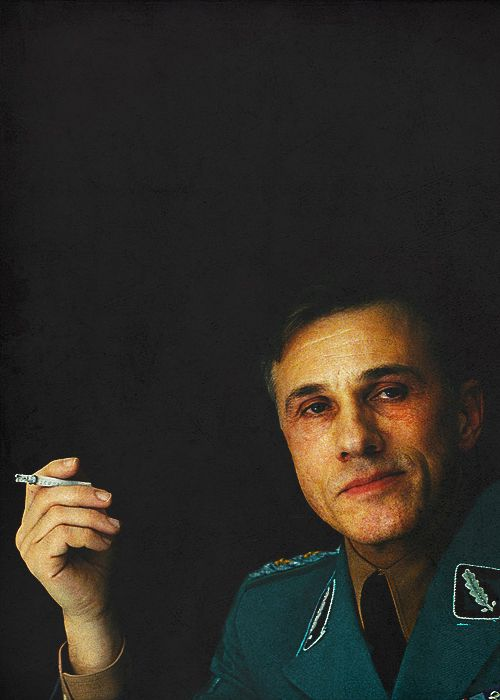 Christoph Waltz as Col. Hans Landa in Inglorious Basterds (2008).