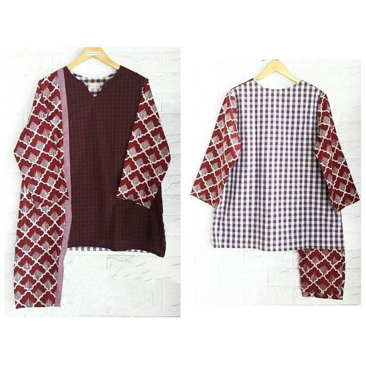 Tunik elma nss aos.  Katun mix batik cap Ld 108 Pb 74 Pjg lgn 50 . . CP  LINE @bebatikanjogja (pakai '@')  WA 081904019099 (slow response)  Toko Baju Batik Modern | www.bebatikanjogja.com