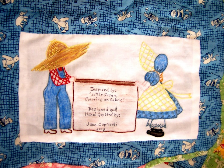 306 best Quilt labels images on Pinterest | Knitting tutorials ... : quilting signature tags - Adamdwight.com