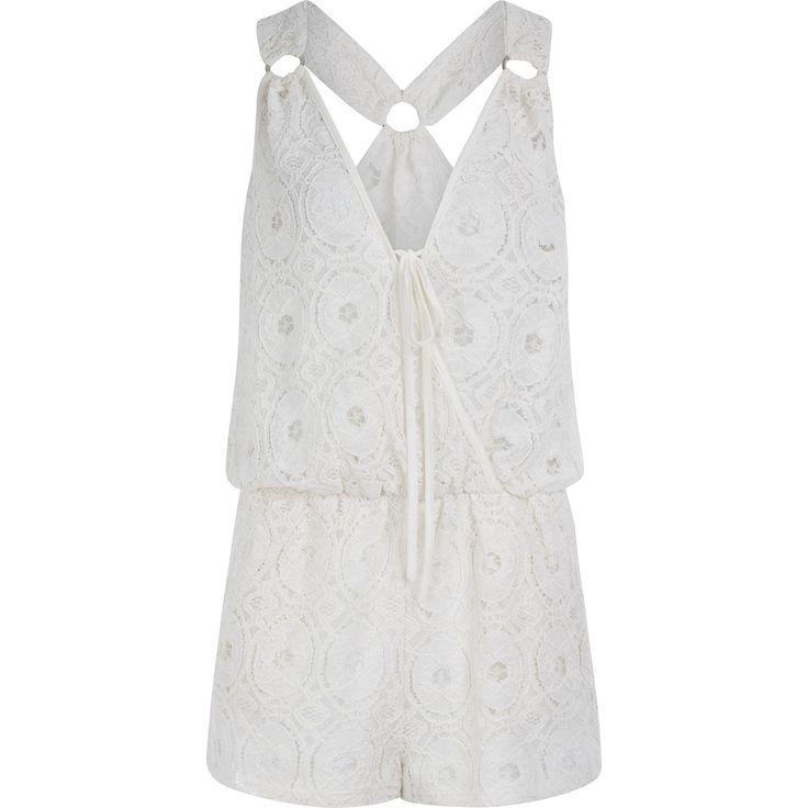 Blue island cream lace playsuit tk maxx estilo for Tk maxx dresses for weddings