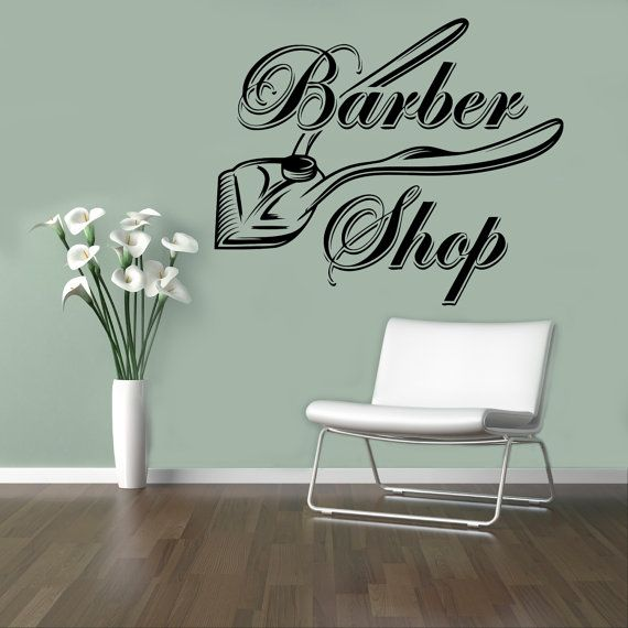 Best My Barber Shop Images On Pinterest Barber Shop Decor - Custom vinyl wall decals for hair salonvinyl wall decal hair salon stylist hairdresser barber shop