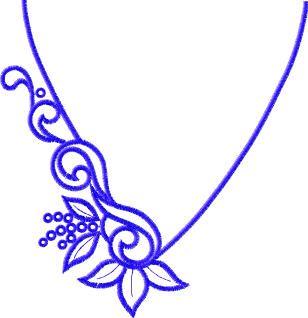 neckline embroidery pattern - Google Search
