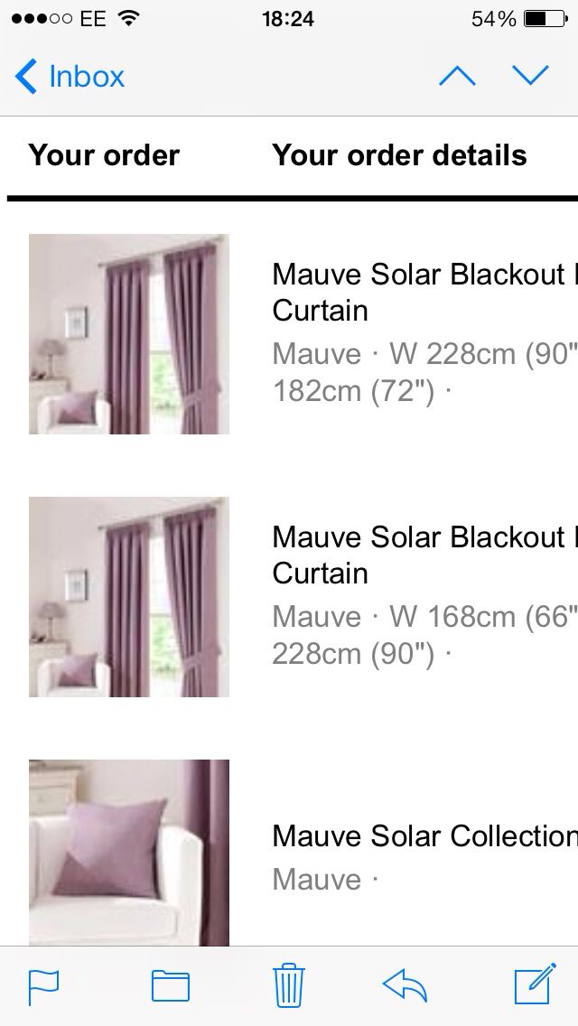 Lounge and dining room - Mauve curtains - Dunelm