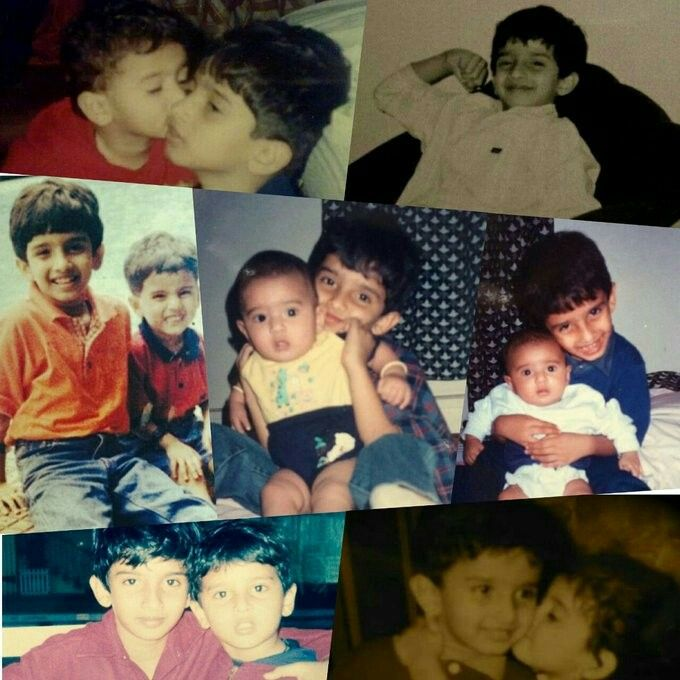 Cute childhood pics of AM