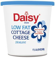 Daisy Cottage Cheese.  Ingredients: Cultured skim milk, cream, salt, and vitamin A palmitate.  No added gums!