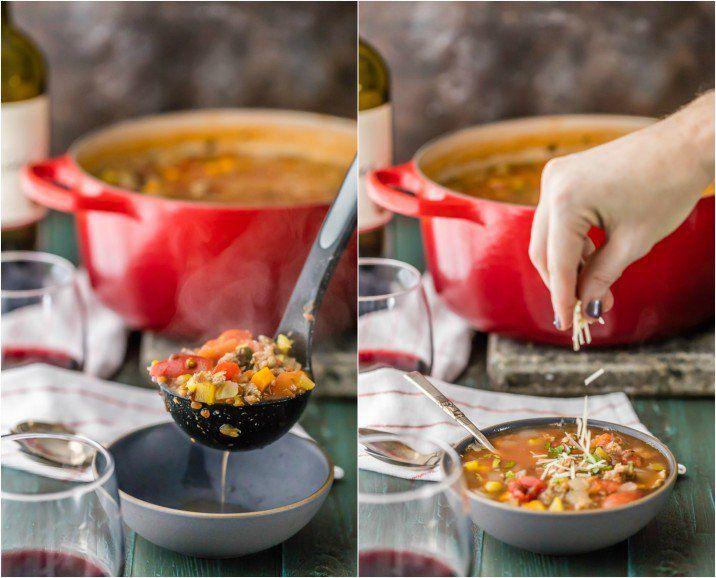 Copycat Carrabba's Sausage and Lentil Soup...your favorite restaurant comfort…