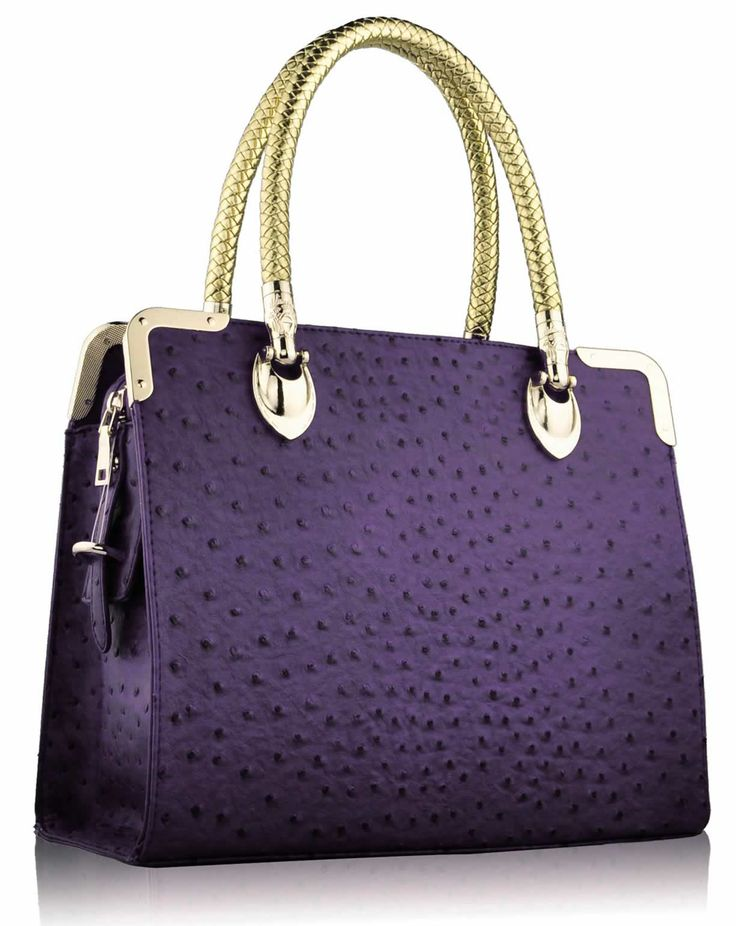 Ostrich Doctor Style Tote Bag - Purple £25