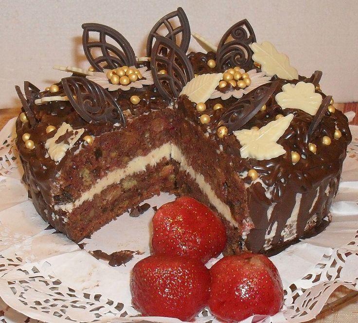 """Шоколадно-свекольный торт """"Изумление"""" в разрезе"""