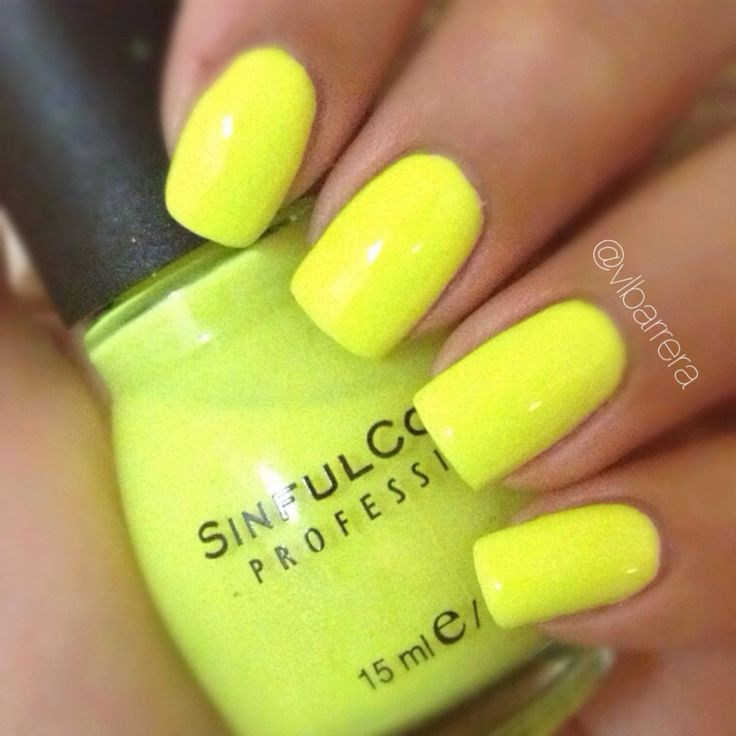 17 Best Ideas About Neon Yellow Nails On Pinterest