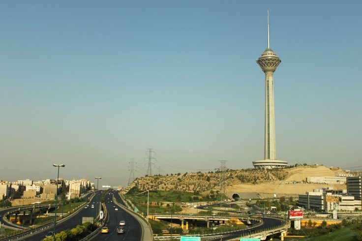 tower - milad tower in tehran  iran is 1427 feet tall
