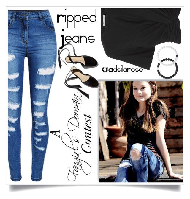Contest Announcement: #RippedJeans by adsilarose on Polyvore featuring polyvore fashion style T By Alexander Wang WithChic Lokai clothing rippedjeans beoriginal StylesInTheMaking FangirlsDomain AdsilaRose