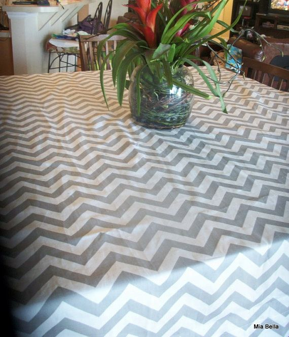 Chevron Tablecloth        Choose Your Size     by GabriellasKloset (Home & Living, Kitchen & Dining, Linens, Table Linens, chevron tablecloth, tablecloth, shower tablecloth, wedding tablecloth, round tablecloth, rectangle tablecloth, square tablecloth, banquet table cloth, banquet tablecloth)