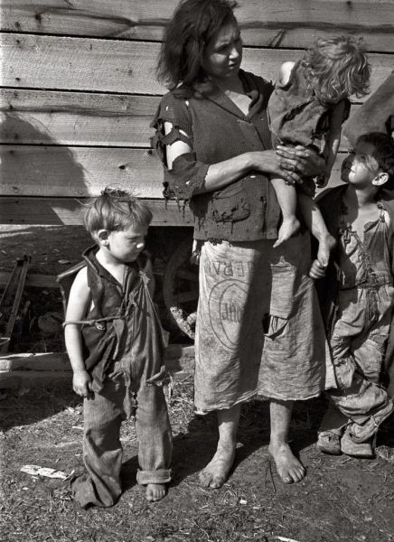 Vintage Photo of Proverty in America its sad how superficial humans have become.