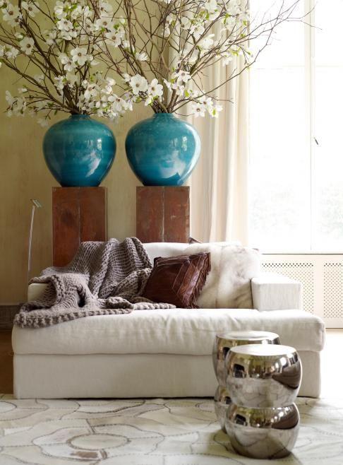 17 beste idee n over blauwe woonkamers op pinterest marine kleurige kussens donkerblauwe - Blauwe turquoise decoratie ...