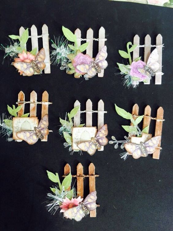 Garden embellishments. Love the fence as a background to work with: