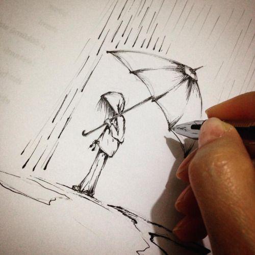 #art #illustration #rain #drops #drawing #october