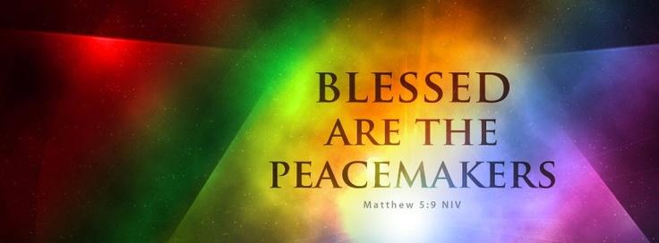 Gesegnet sind die Friedensstifter – Words of faith and encouragement