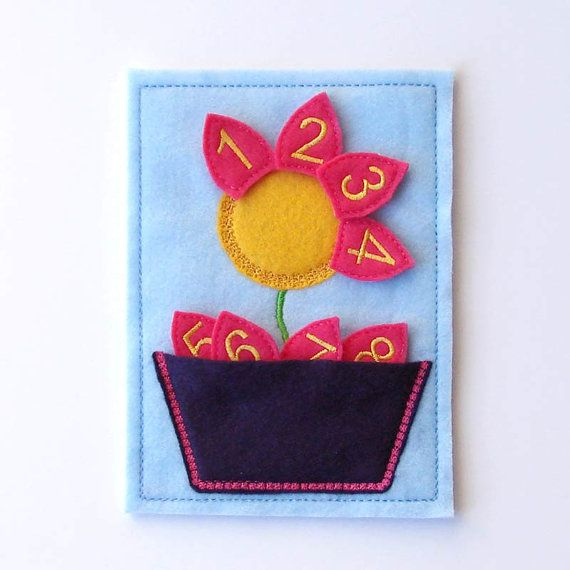 Toddler Counting Game - Kids Number Game - Felt - Educational Toy - Flower - Preschool Toy