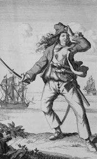 Mary Read (died 1721) aka Mark Read, was an English pirate. She and Anne Bonny are two of the most famed female pirates of all time; they are the only two women known to have been convicted of piracy during the early 18th century, at the height of the Golden Age of Piracy.