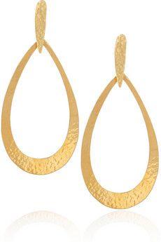Hervé Van Der Straeten | 24-karat gold-plated earrings | NET-A-PORTER.COM