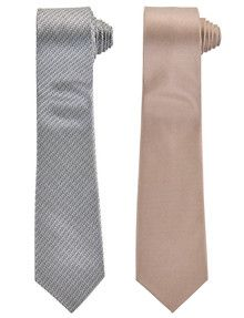 Sander Tie, Gold Patterned, 2-Pack product photo