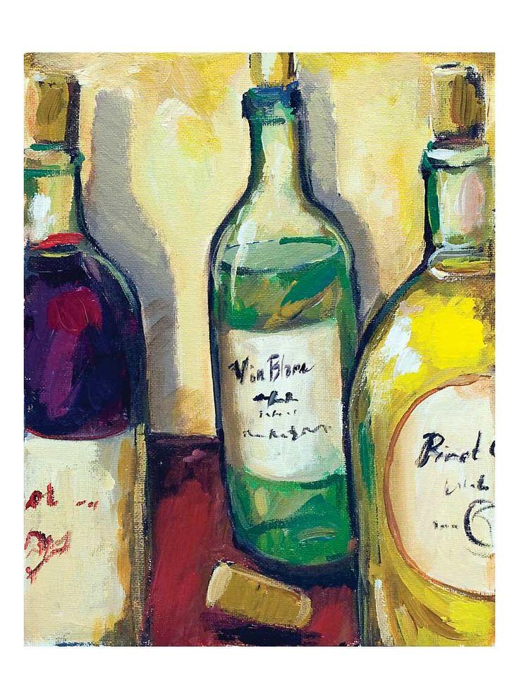 Wine paintings wine tasting hand painted mural wine for Easy wine bottle painting ideas