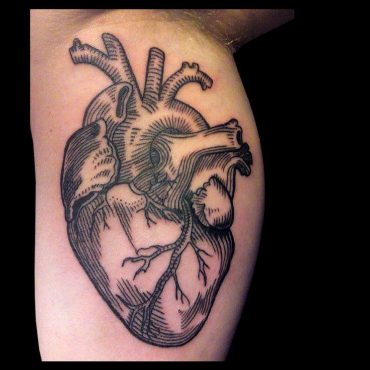 Corazon realista dibujo buscar con google tattoos - Tatouage cavalera ...