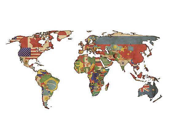Adesivo Mapa Mundi - 100x180cm