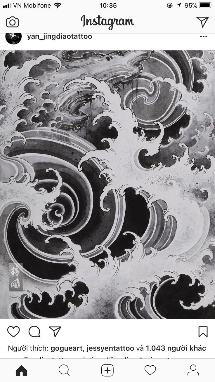 #wave #japanesewaves #japanesetattoo #wavetattoo #wavestattoo #japanesewavetattoo #blackandwhite
