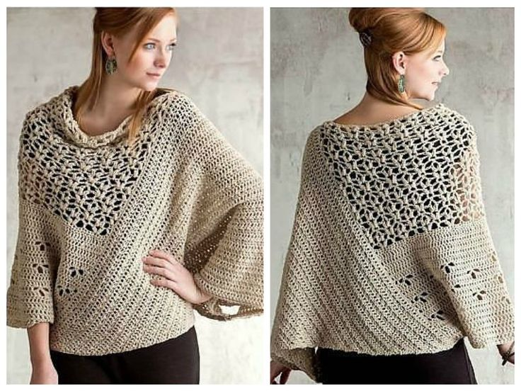 Boho style, gorgeous and stunning sweater or cloak. Enjoy :) Crochet fan? be part of our group! Do You like it? Share with family, friends, world :)