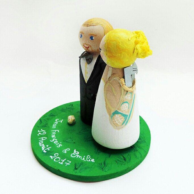 Cake toppers sur thème du golf