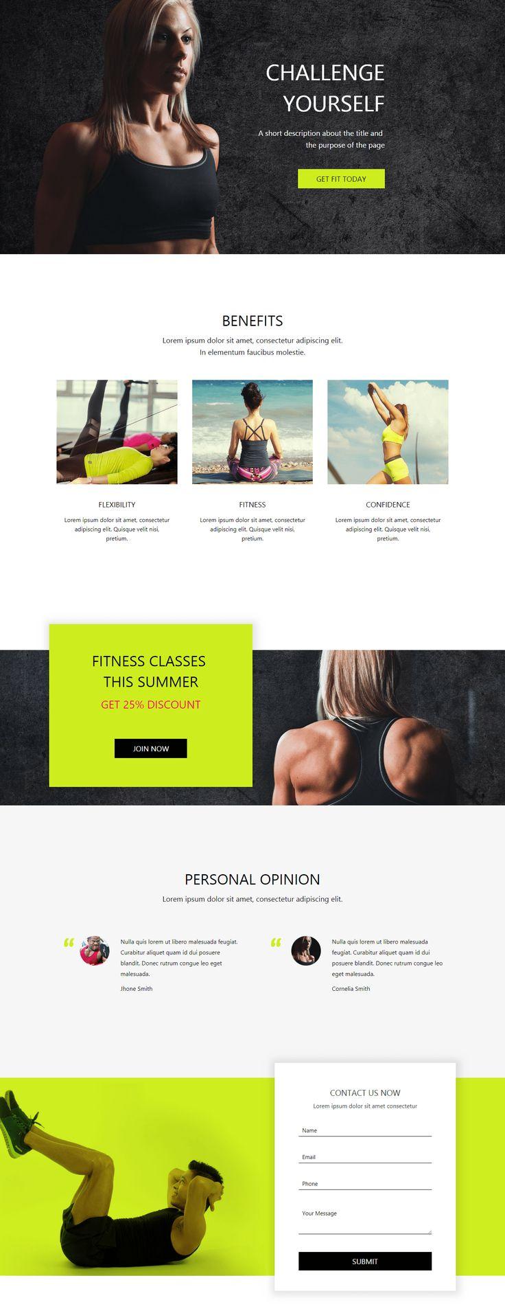 Gym Landing Page Landing Page Web Design Web Layout