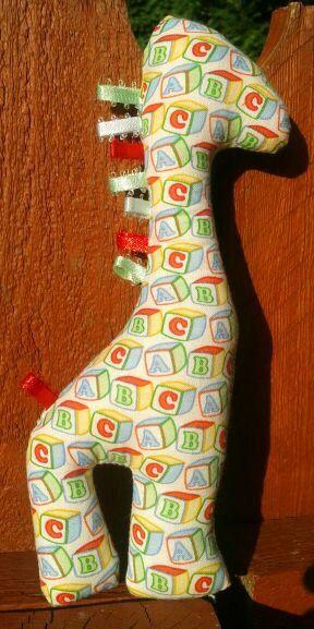 Stuffed Giraffe Baby Toy