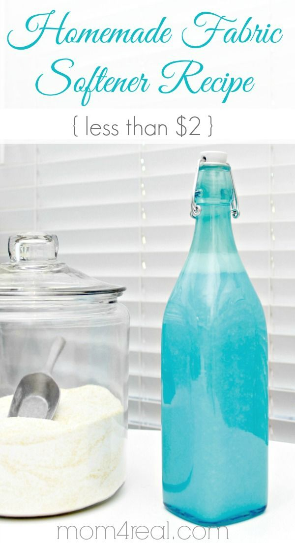 Homemade Fabric Softener Recipe for Less Than $2