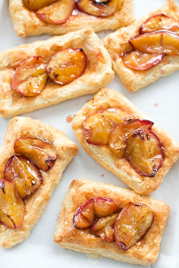 Easy Roasted Peach Tarts. We made these with the kids recently and they are so good!